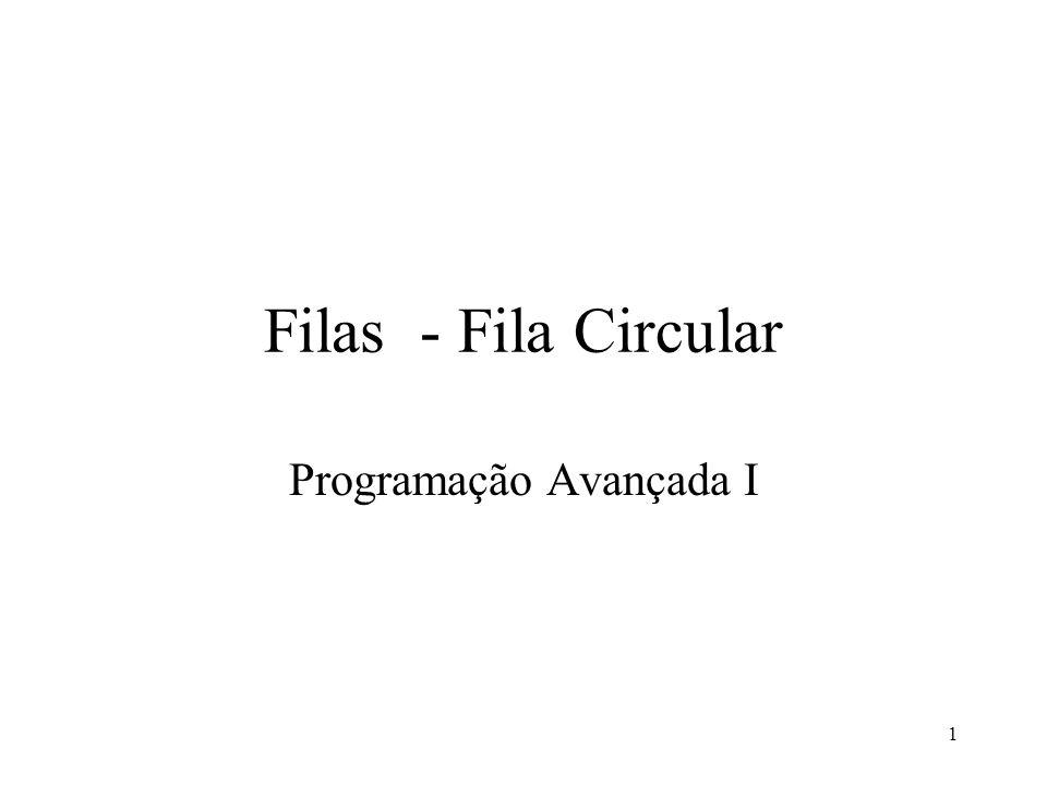 Filas - Fila Circular Programação Avançada I 1