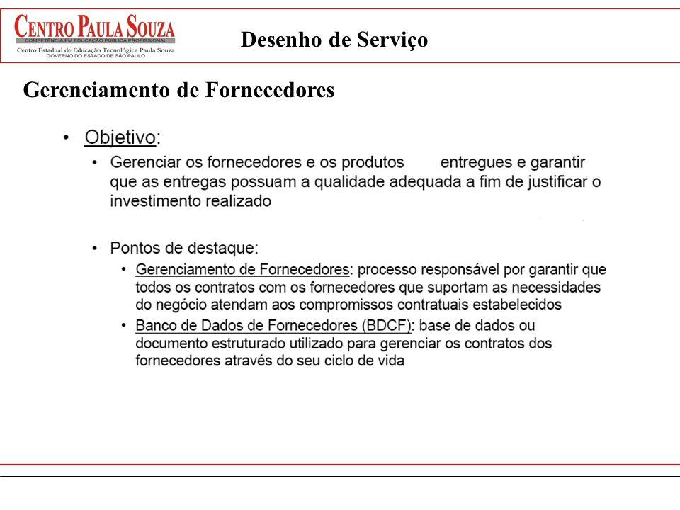 Desenho de Serviço Gerenciamento de Fornecedores