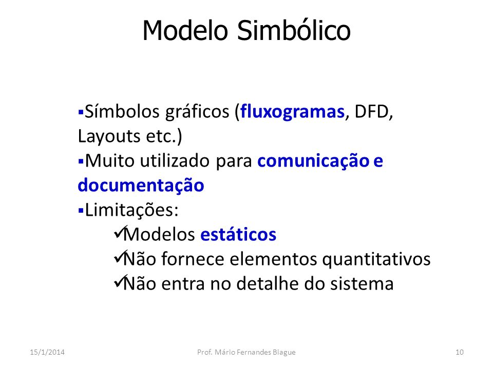 Modelo Simbólico: Fluxograma 15/1/2014Prof.