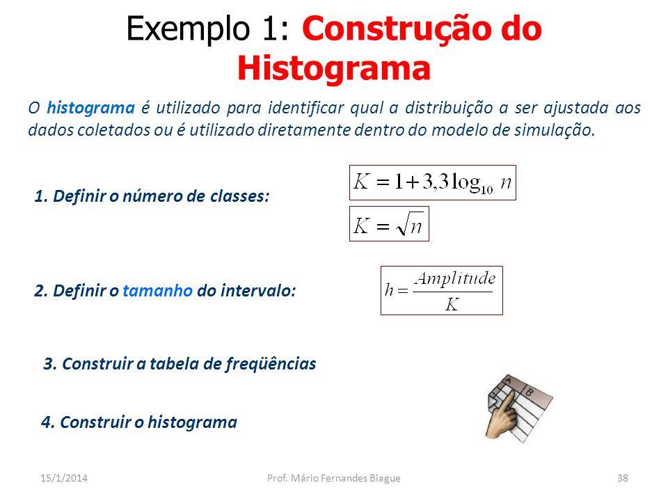 Exemplo 1: Histograma 15/1/2014Prof. Mário Fernandes Biague39