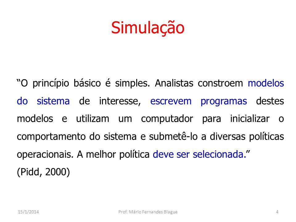 Simulação Introdução Nos estudos de planejamento é comum depararmos com problemas de dimensionamento ou fluxo cuja solução é aparentemente complexa.
