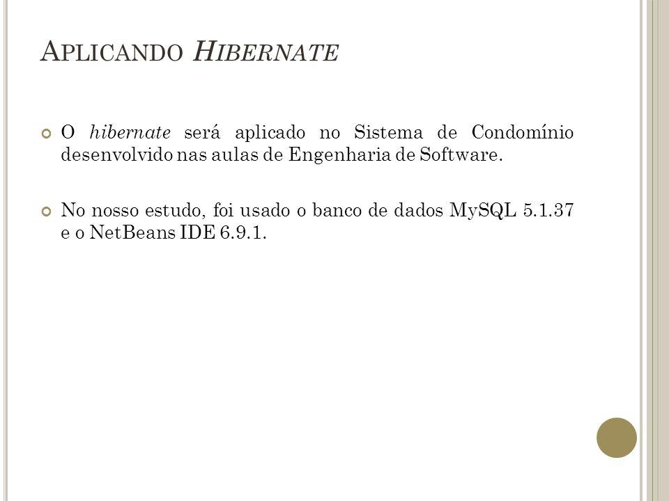 A PLICANDO H IBERNATE O Sistema do Condomínio apresenta o Diagrama de Classes a seguir: