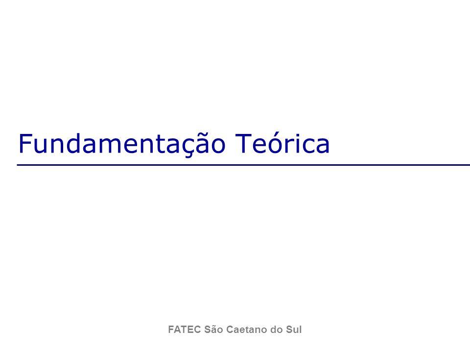 FATEC São Caetano do Sul Fundamentação Teórica Classe: Uma classe é uma abstração das características relevantes de um grupo de coisas do mundo real.