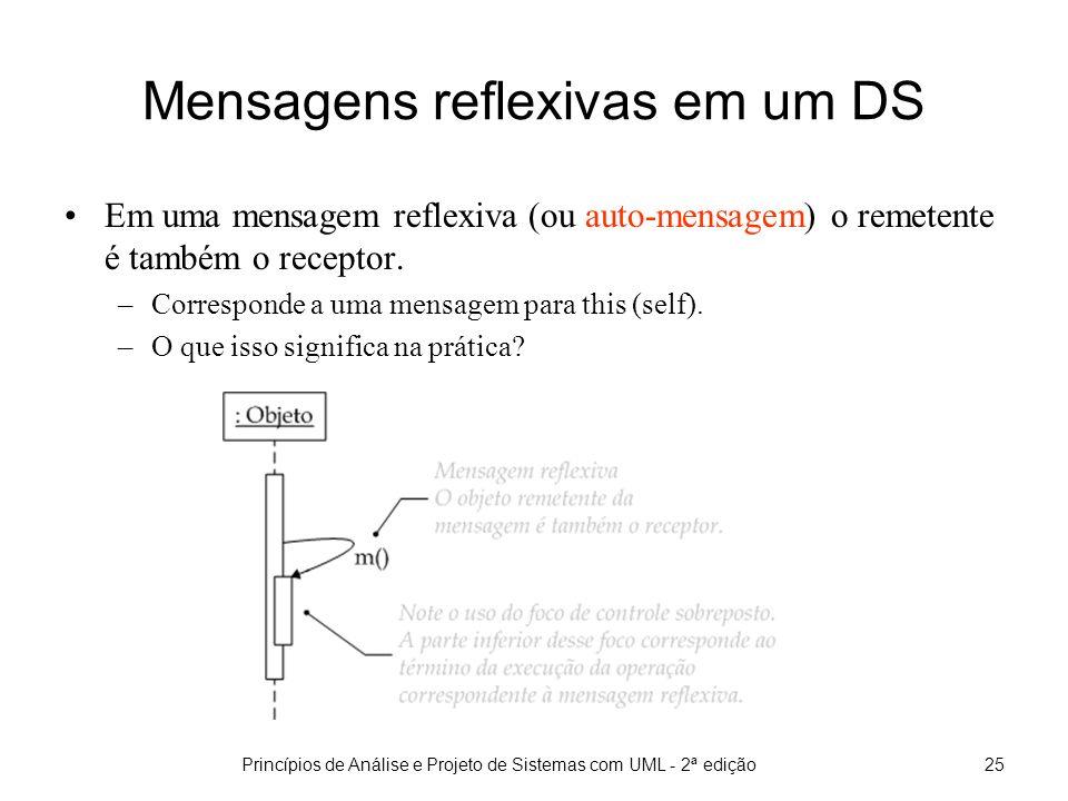Princípios de Análise e Projeto de Sistemas com UML - 2ª edição26 Criação/destruição de objetos em um DS
