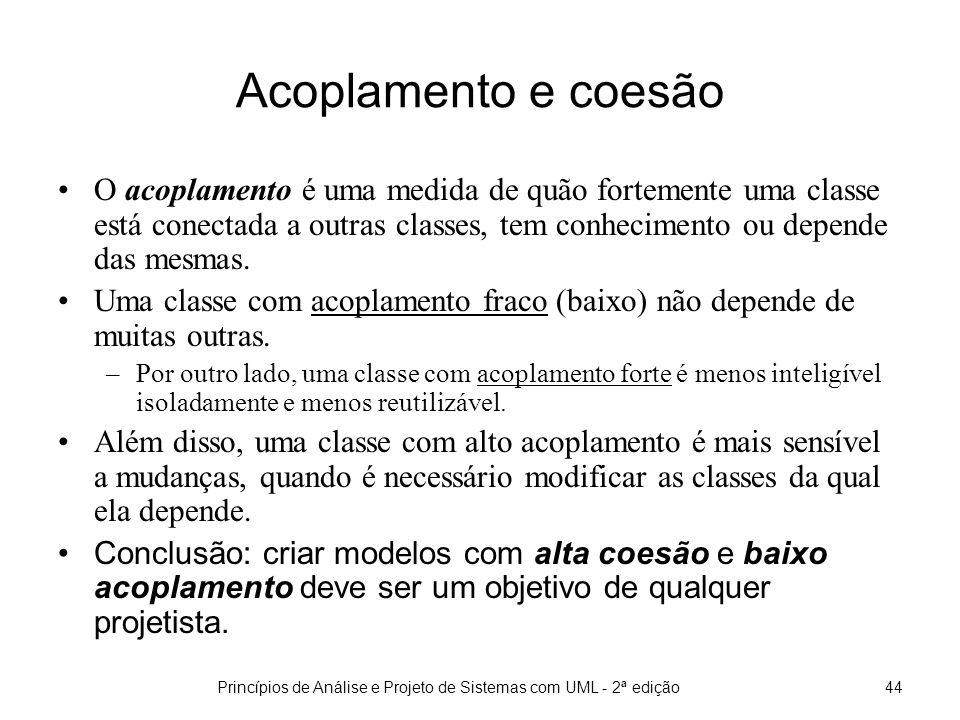Princípios de Análise e Projeto de Sistemas com UML - 2ª edição45 Dicas para construção do MI Identifique as classes conceituais que participam em cada caso de uso.