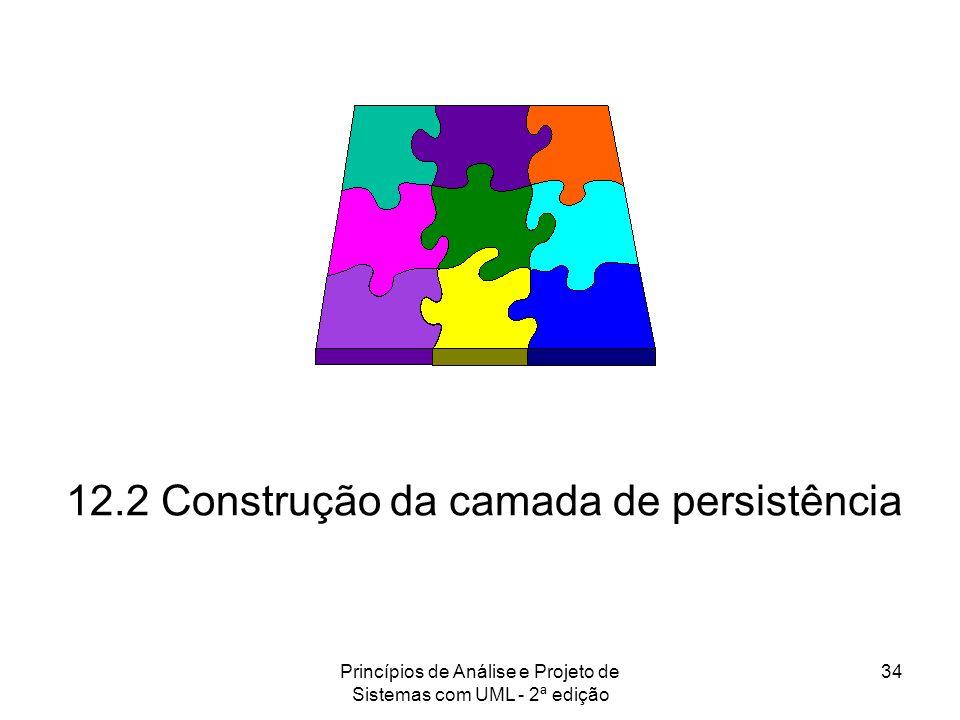 Princípios de Análise e Projeto de Sistemas com UML - 2ª edição 34 12.2 Construção da camada de persistência