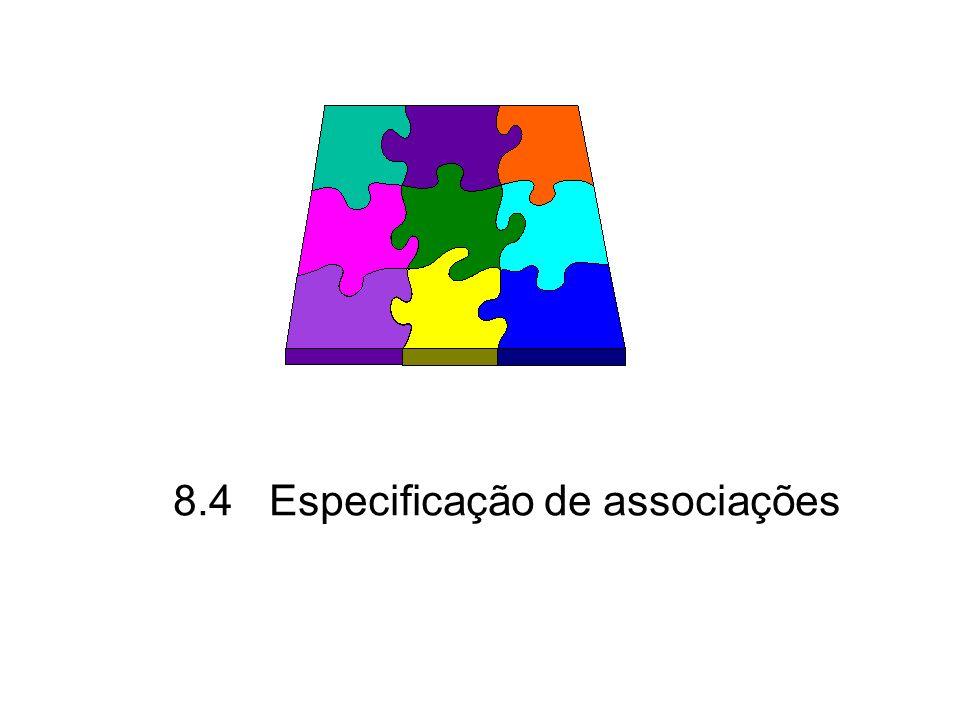 8.4Especificação de associações