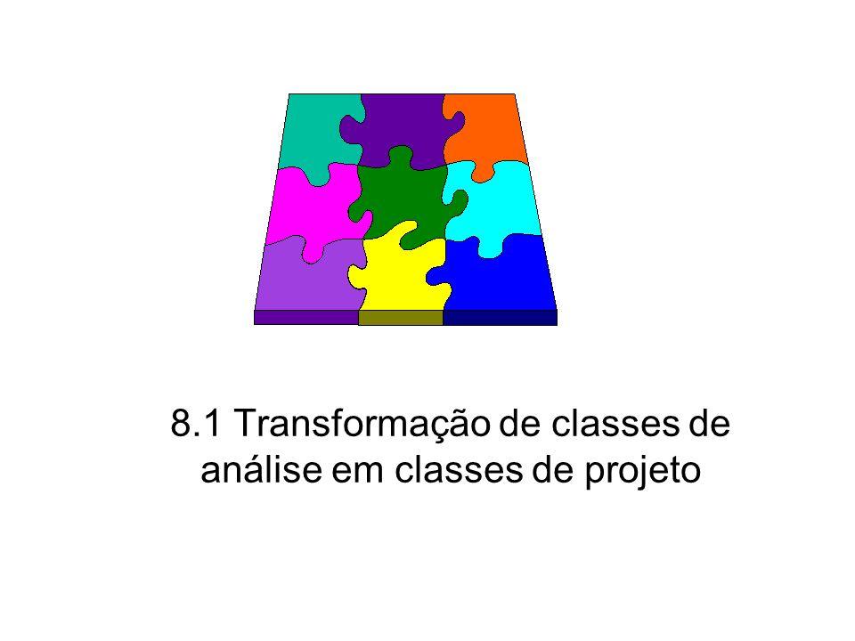 8.1 Transformação de classes de análise em classes de projeto