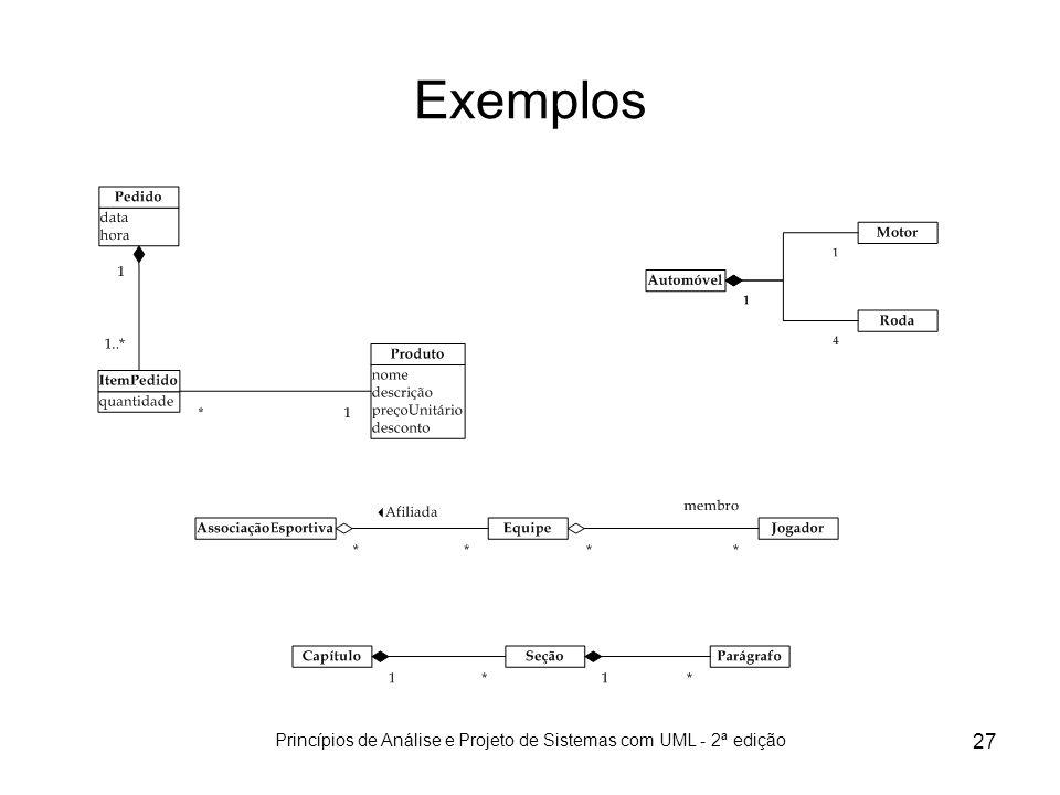 Princípios de Análise e Projeto de Sistemas com UML - 2ª edição 27 Exemplos