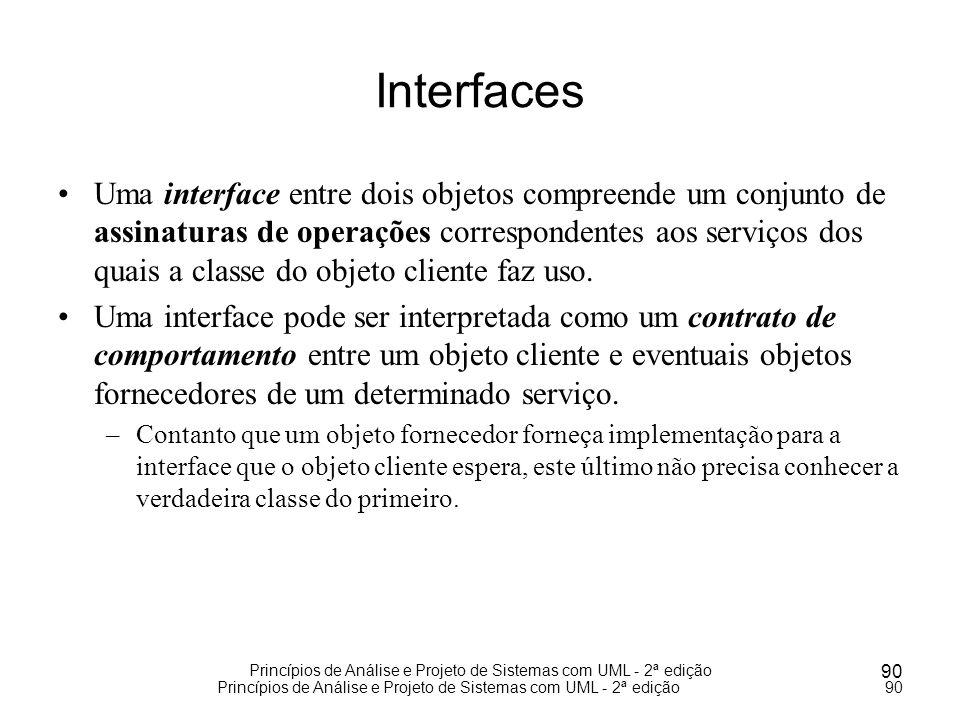 Princípios de Análise e Projeto de Sistemas com UML - 2ª edição 90 Princípios de Análise e Projeto de Sistemas com UML - 2ª edição90 Interfaces Uma in