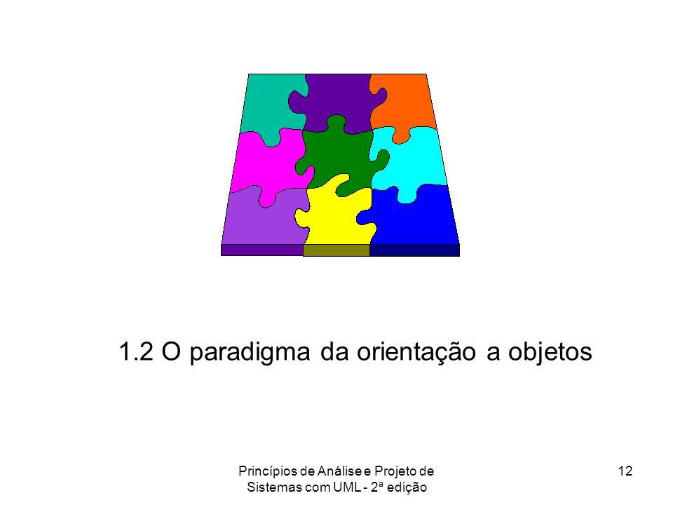 Princípios de Análise e Projeto de Sistemas com UML - 2ª edição 12 1.2 O paradigma da orientação a objetos