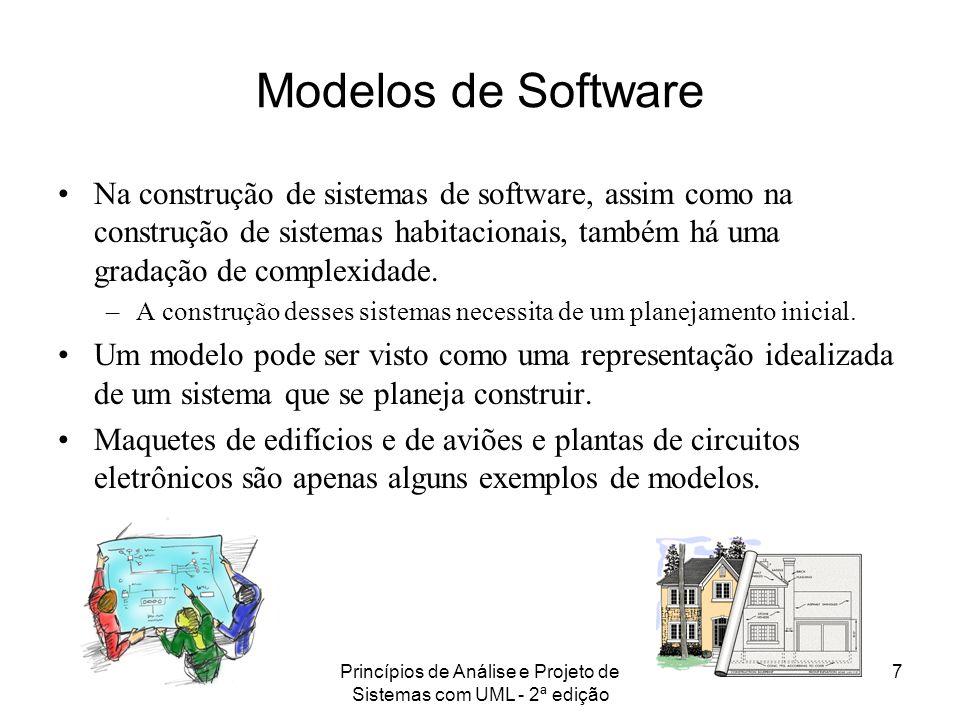 Princípios de Análise e Projeto de Sistemas com UML - 2ª edição 8 A princípio, podemos ver a construção de modelos como uma atividade que atrasa o desenvolvimento do software propriamente dito.