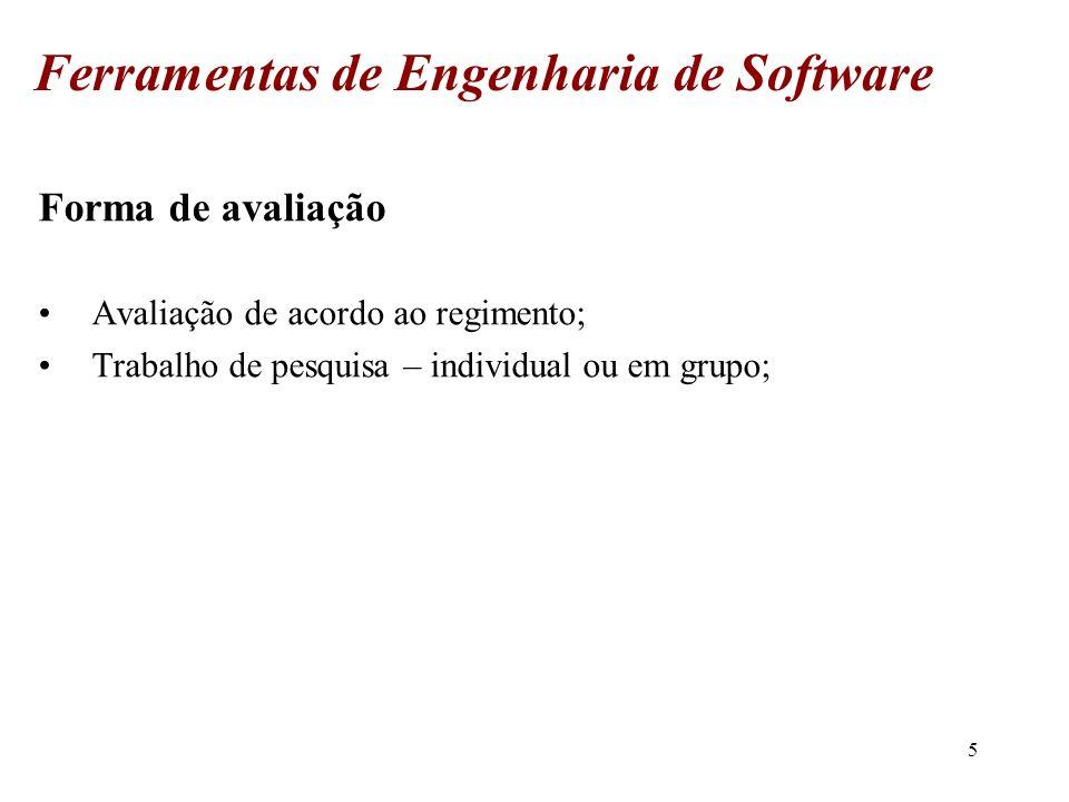 6 Ferramentas de Engenharia de Software