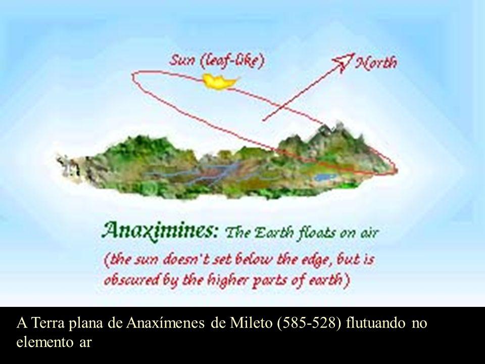 A Terra cilíndrica, de Anaximandro de Mileto (611-545 a.C.) imersa no apeiron
