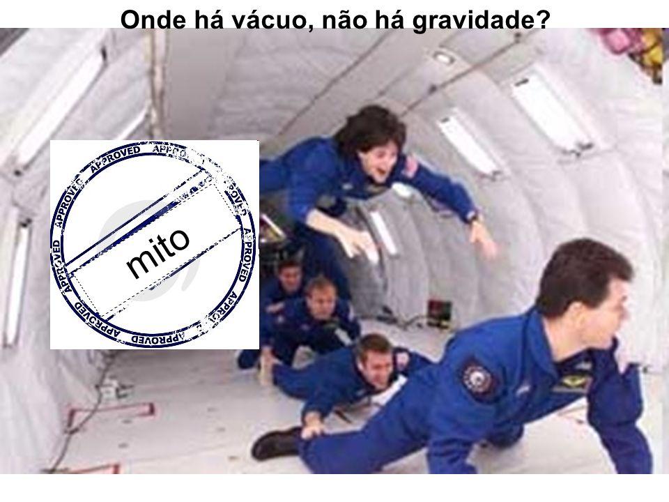 Onde há vácuo, não há gravidade? mito