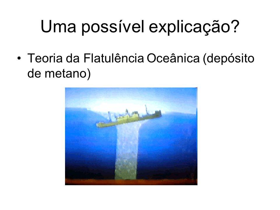 Uma possível explicação? Teoria da Flatulência Oceânica (depósito de metano)