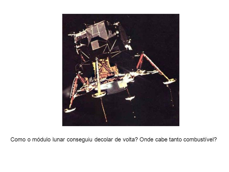 Como o módulo lunar conseguiu decolar de volta? Onde cabe tanto combustível?