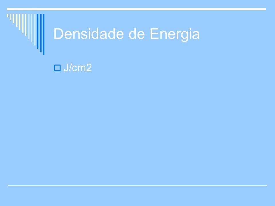 Densidade de Energia J/cm2
