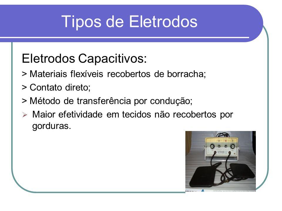 Tipos de Eletrodos Eletrodos Capacitivos: > Materiais flexíveis recobertos de borracha; > Contato direto; > Método de transferência por condução; Maio