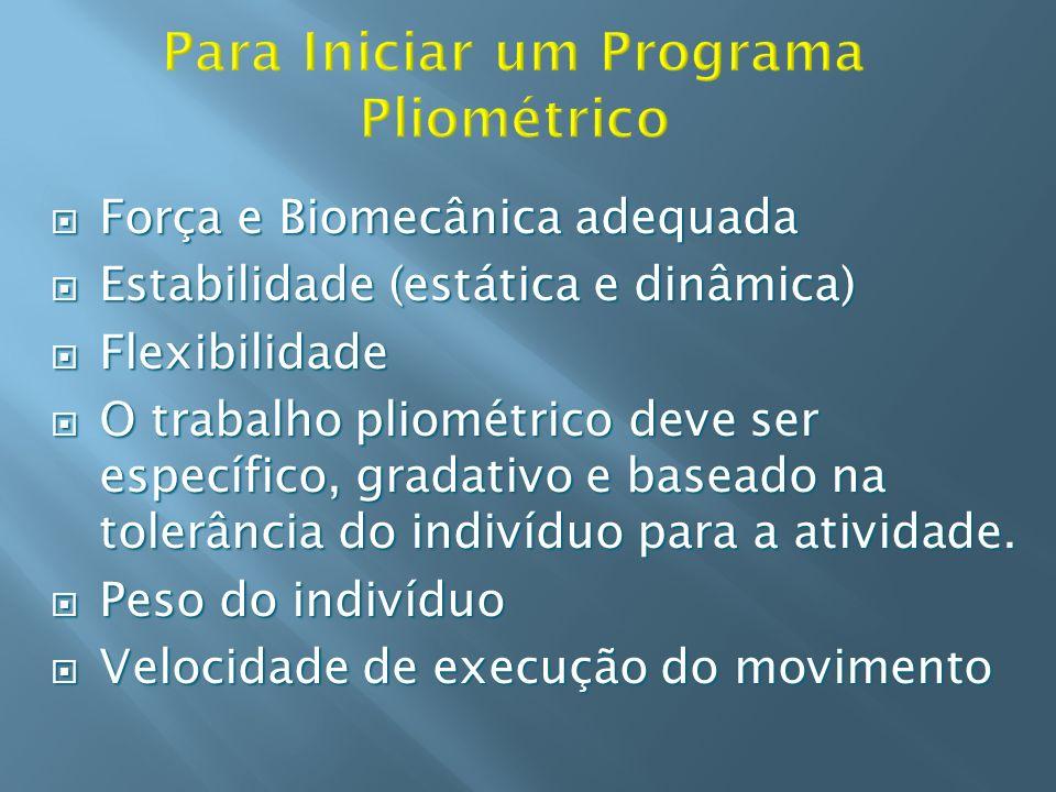 Força e Biomecânica adequada Força e Biomecânica adequada Estabilidade (estática e dinâmica) Estabilidade (estática e dinâmica) Flexibilidade Flexibil