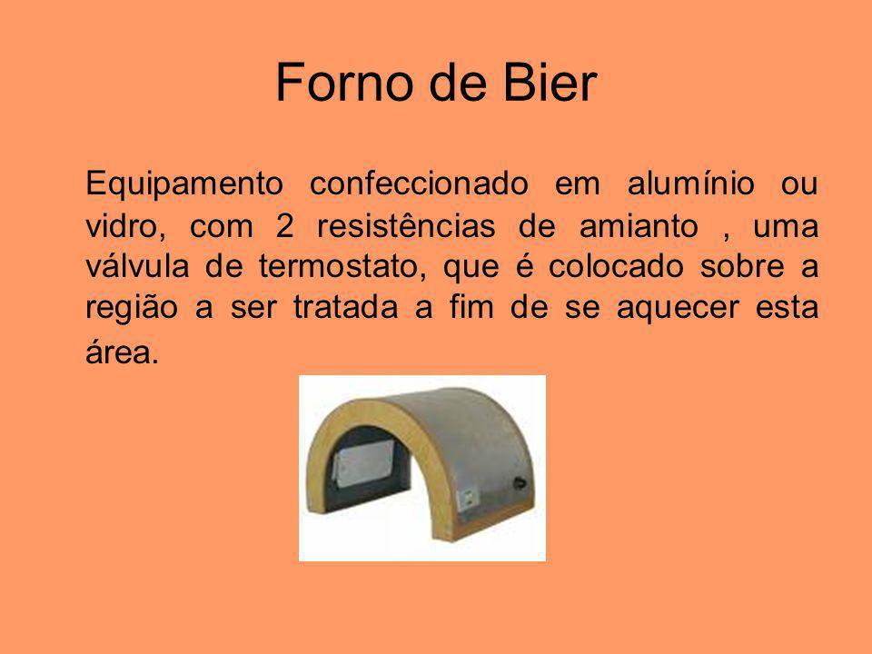 Forno de Bier Equipamento confeccionado em alumínio ou vidro, com 2 resistências de amianto, uma válvula de termostato, que é colocado sobre a região