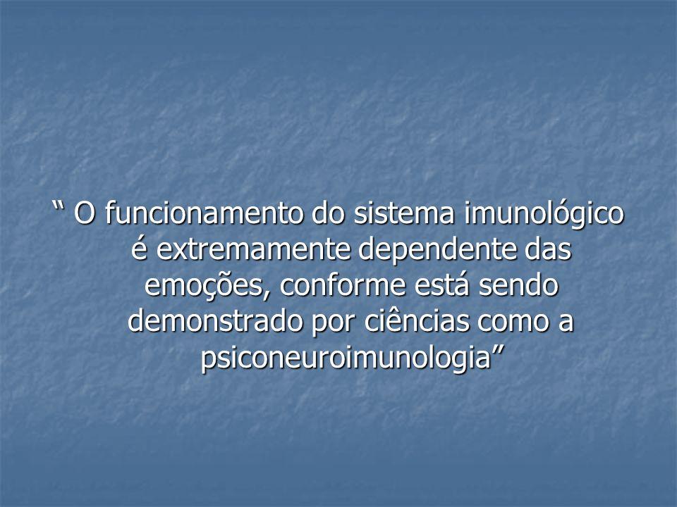 O funcionamento do sistema imunológico é extremamente dependente das emoções, conforme está sendo demonstrado por ciências como a psiconeuroimunologia