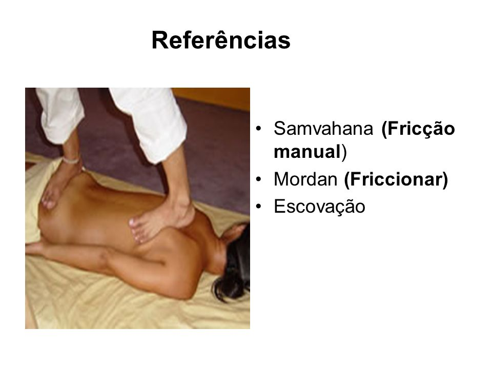 Samvahana (Fricção manual) Mordan (Friccionar) Escovação Referências