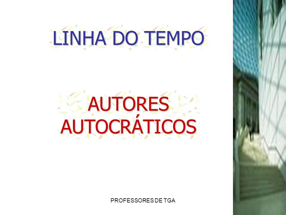 PROFESSORES DE TGA LINHA DO TEMPO AUTORESAUTOCRÁTICOS