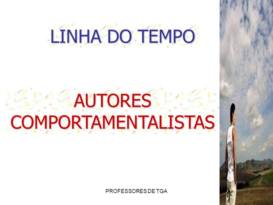 PROFESSORES DE TGA LINHA DO TEMPO AUTORESCOMPORTAMENTALISTAS