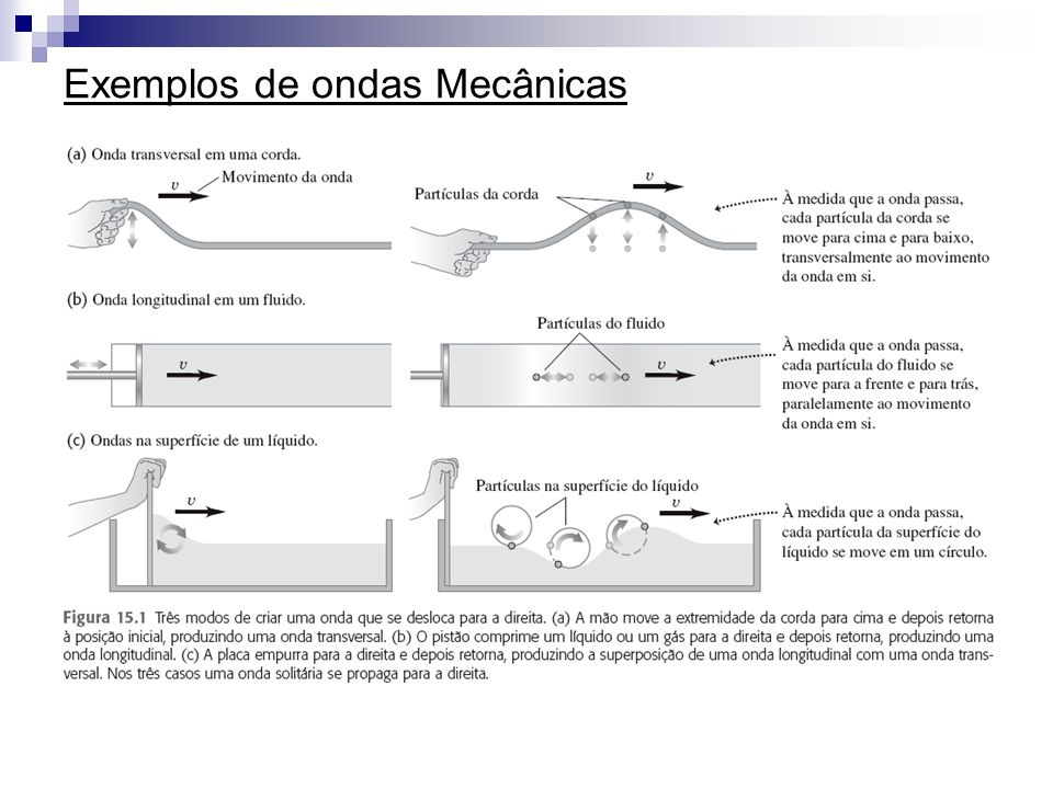Exemplos de ondas Mecânicas