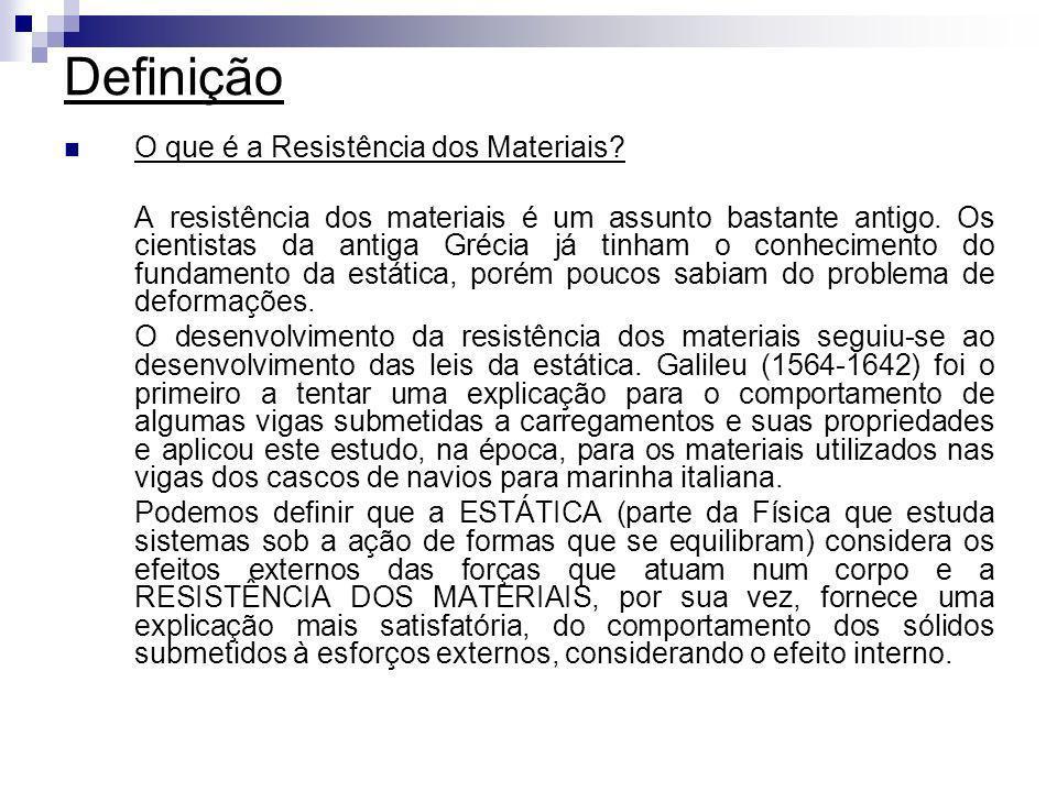 O que é a Resistência dos Materiais? A resistência dos materiais é um assunto bastante antigo. Os cientistas da antiga Grécia já tinham o conhecimento