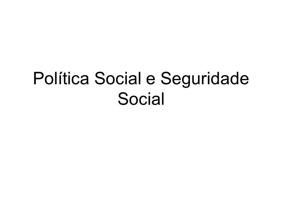 Política Social e Seguridade Social