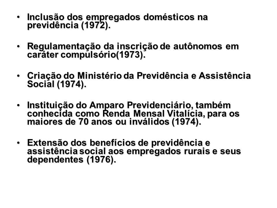 Inclusão dos empregados domésticos na previdência (1972).Inclusão dos empregados domésticos na previdência (1972). Regulamentação da inscrição de autô