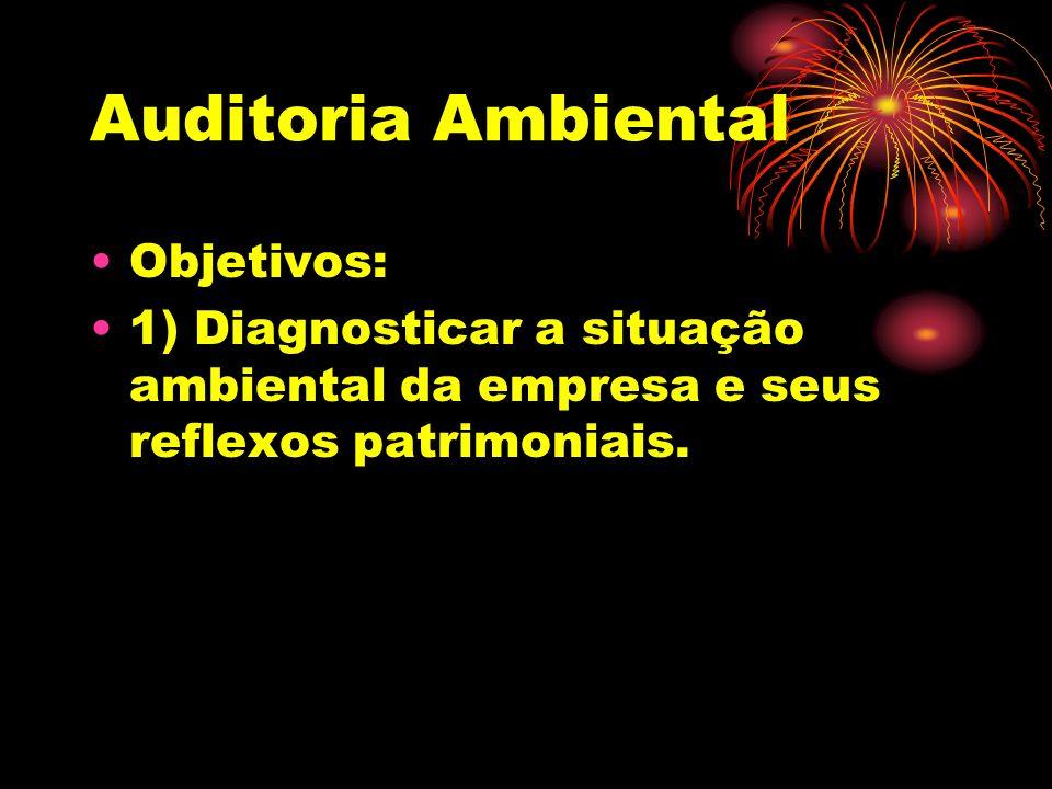 Auditoria Ambiental Objetivos: 2) Atender as normas internacionais Iso 14001