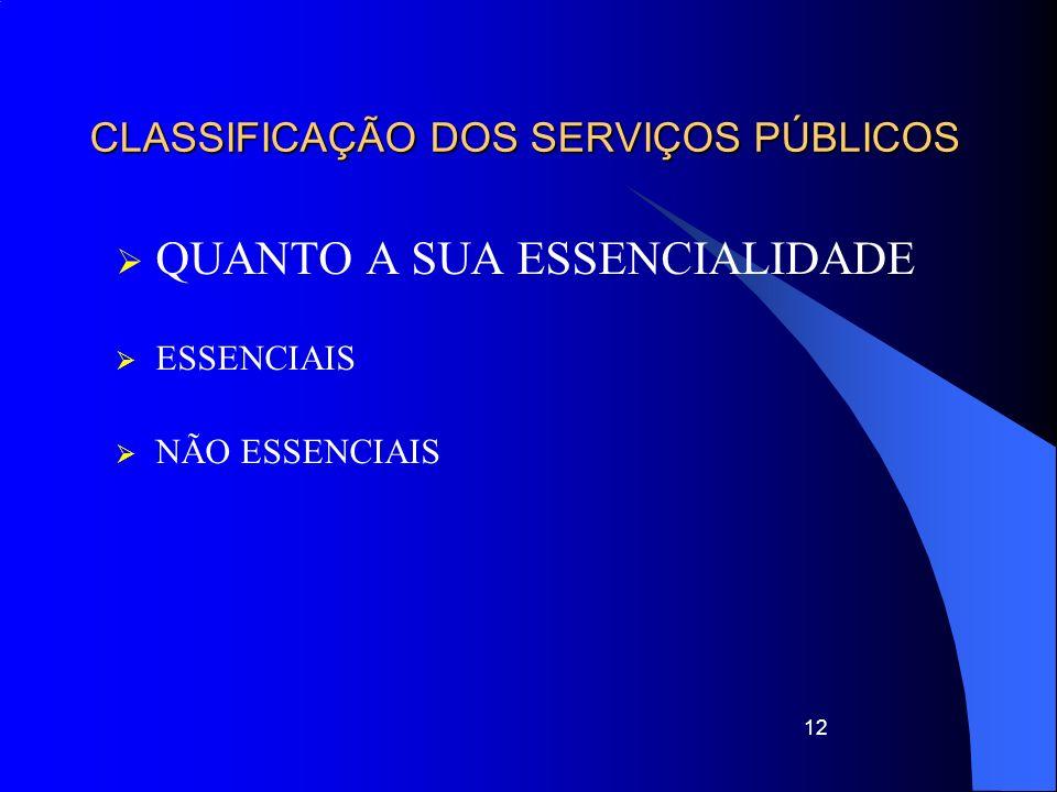 13 CLASSIFICAÇÃO DOS SERVIÇOS PÚBLICOS FORMAS DE PRESTAÇÃO SERVIÇO CENTRALIZADOS DESCENTRALIZADOS – TRANSFERE TITULARIDADE DESCONCENTRADOS – ATRIBUIÇÕES ÓRGÃOS (agências)