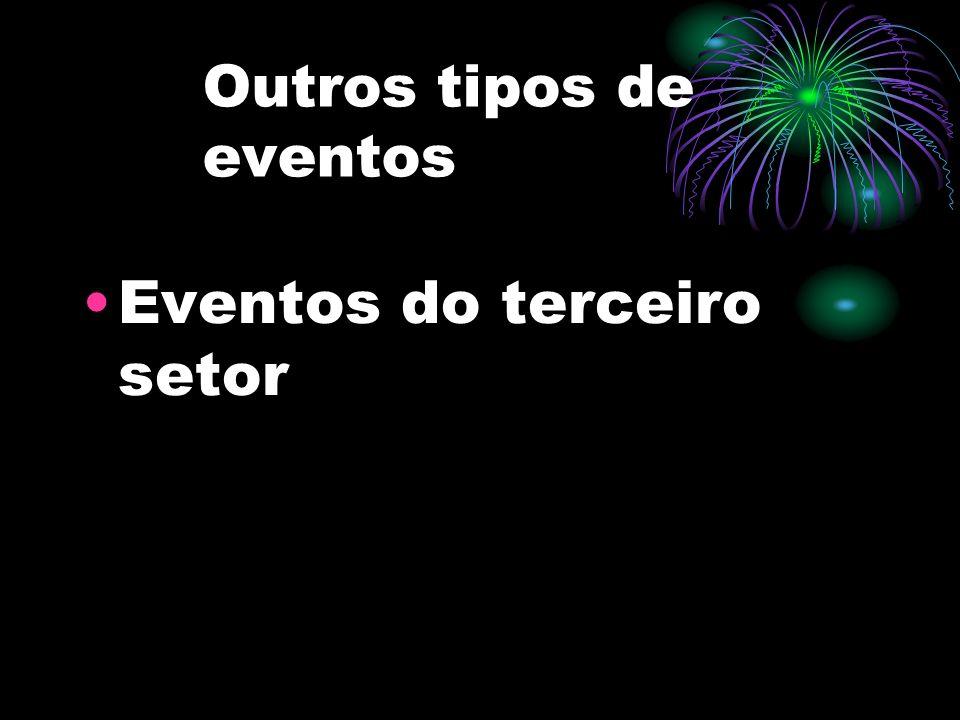 Outros tipos de eventos Eventos do terceiro setor