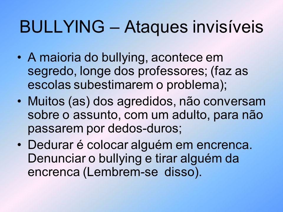 BULLYING - Negligência Infelizmente, há Diretores, professores, Equipe Pedagógica, que sabem que o bullying acontece em sua escola, no entanto decidem ignorar o assunto ou pensam que as vítimas estão inventando um fato ou ato.