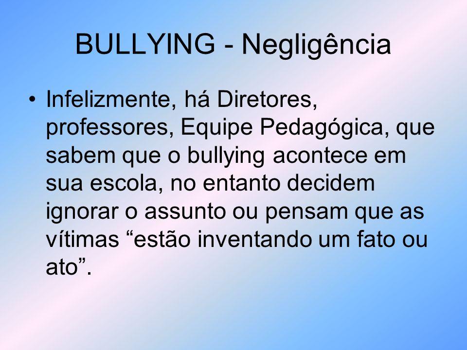 BULLYING - Ciberbullying O bullying na internet, causa mais vergonha, porque as vítimas sentem que o mundo inteiro está assistindo; Muitos vezes é difícil saber quem está por trás do bullying, quando usado esse meio; Os agressores simulam ser outra pessoa, às vezes se fazem passar pela própria vítima.