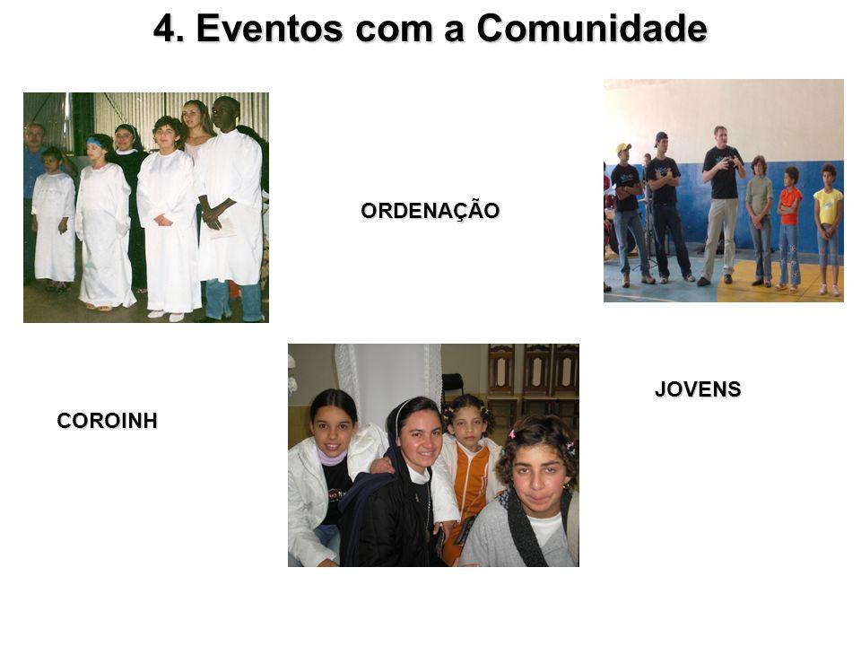 4. Eventos com a Comunidade ORDENAÇÃO JOVENS JOVENS COROINH COROINH