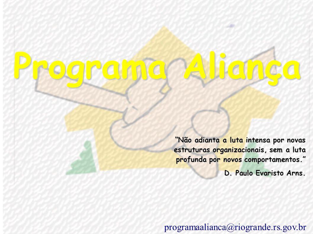 Programa Aliança Não adianta a luta intensa por novas estruturas organizacionais, sem a luta estruturas organizacionais, sem a luta profunda por novos comportamentos.