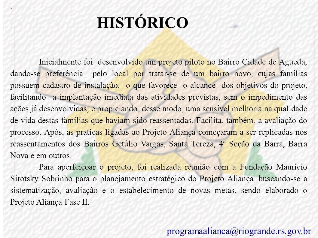 Programa Aliança programaalianca@riogrande.rs.gov.br A civilização e a solidez dos povos dependem, sobretudo, da qualidade humana das próprias famílias Papa João Paulo II.