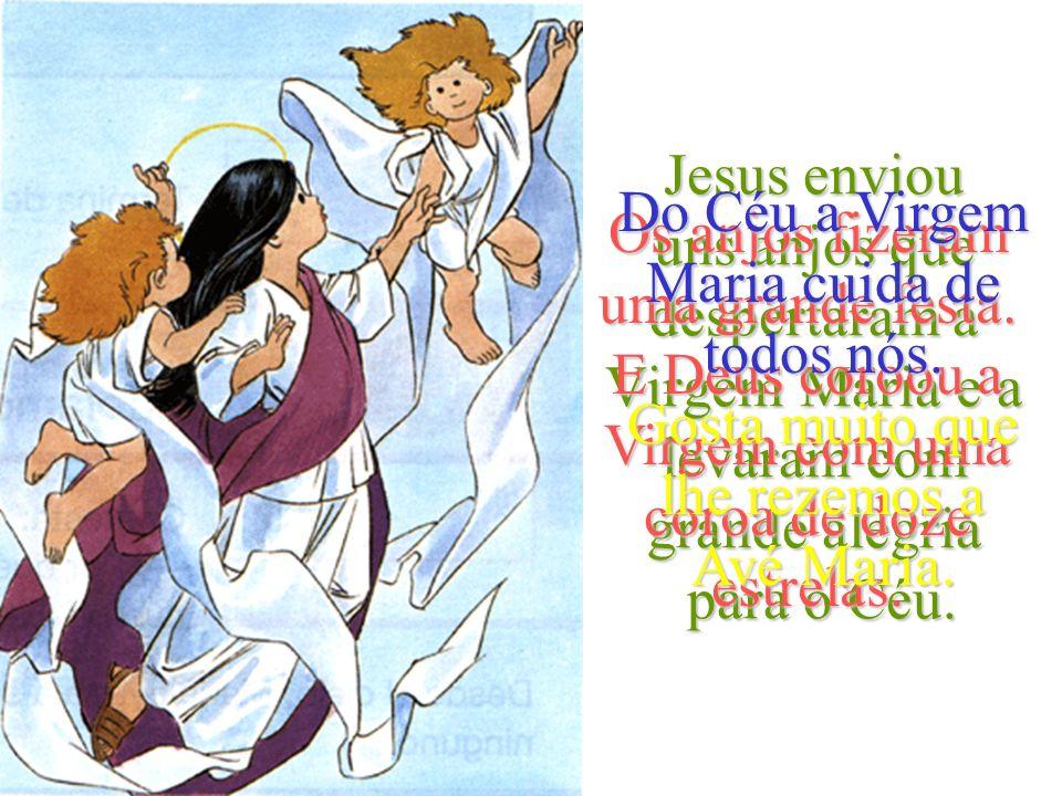 Passado um tempo, Jesus quis ter a sua mãe com Ele. Maria adormeceu profundamente e os cristãos pensavan que tinha morrido. João e os outros discípulo