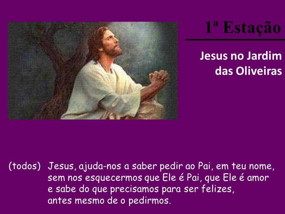 (todos) Senhor Jesus, no caminho da cruz Tu experimentaste a dor e o que é a nossa vida. Hoje queremos fazer conTigo este caminho sagrado. Ajuda-nos a