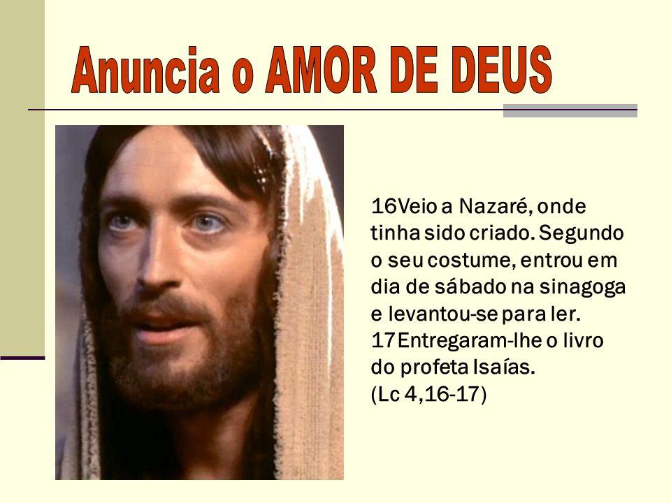 Jesus passou fazendo o bem a todos, tinha a consciência do peregrino.