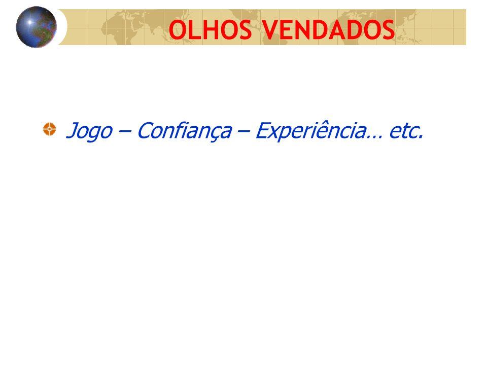 OLHOS VENDADOS Jogo – Confiança – Experiência… etc.