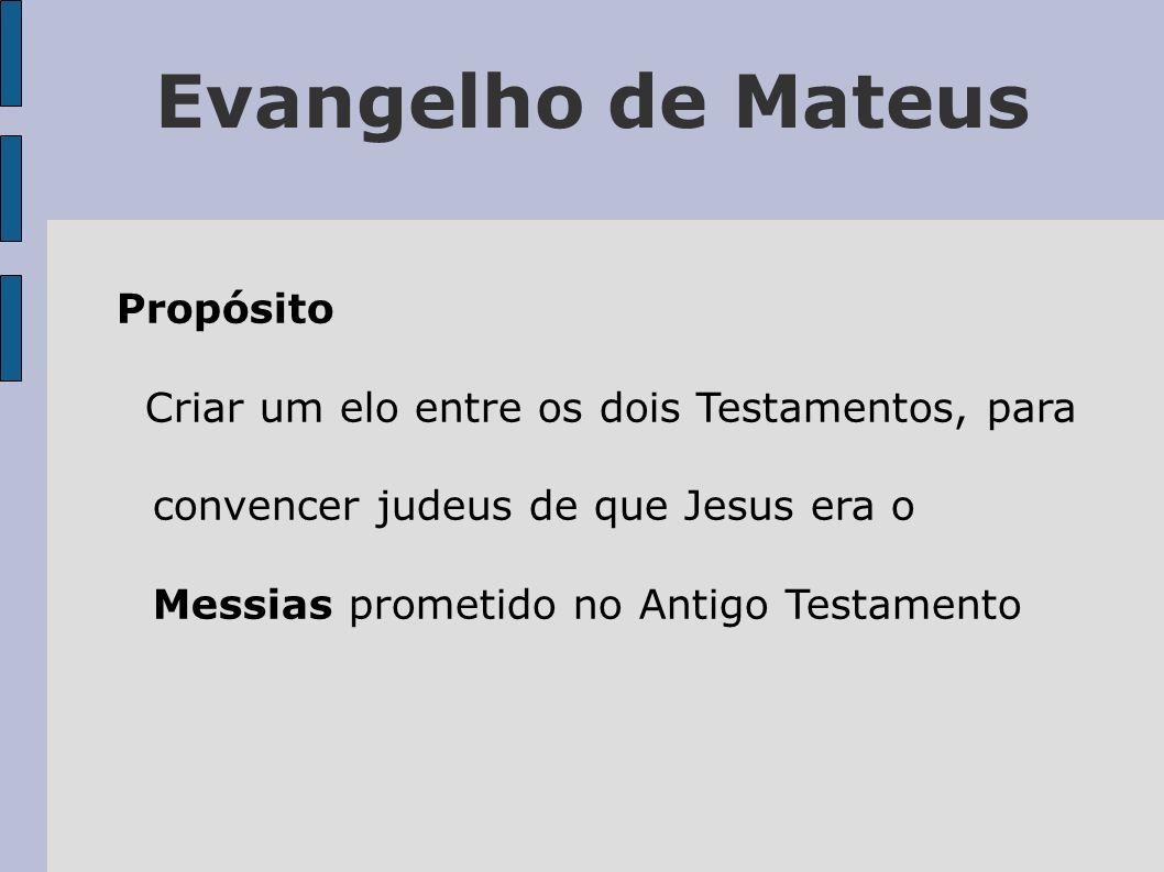 Evangelho de Mateus Palavras chaves Para que se cumprisse