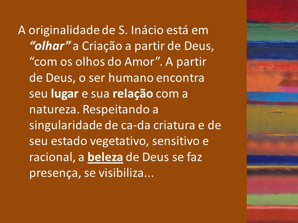 A originalidade de S.Inácio está em olhar a Criação a partir de Deus, com os olhos do Amor.