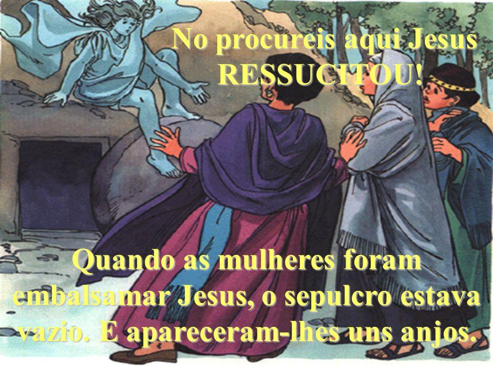 Na madrugada de domingo, Jesus ressuscitou. Por isso o domingo é o dia do Senhor.