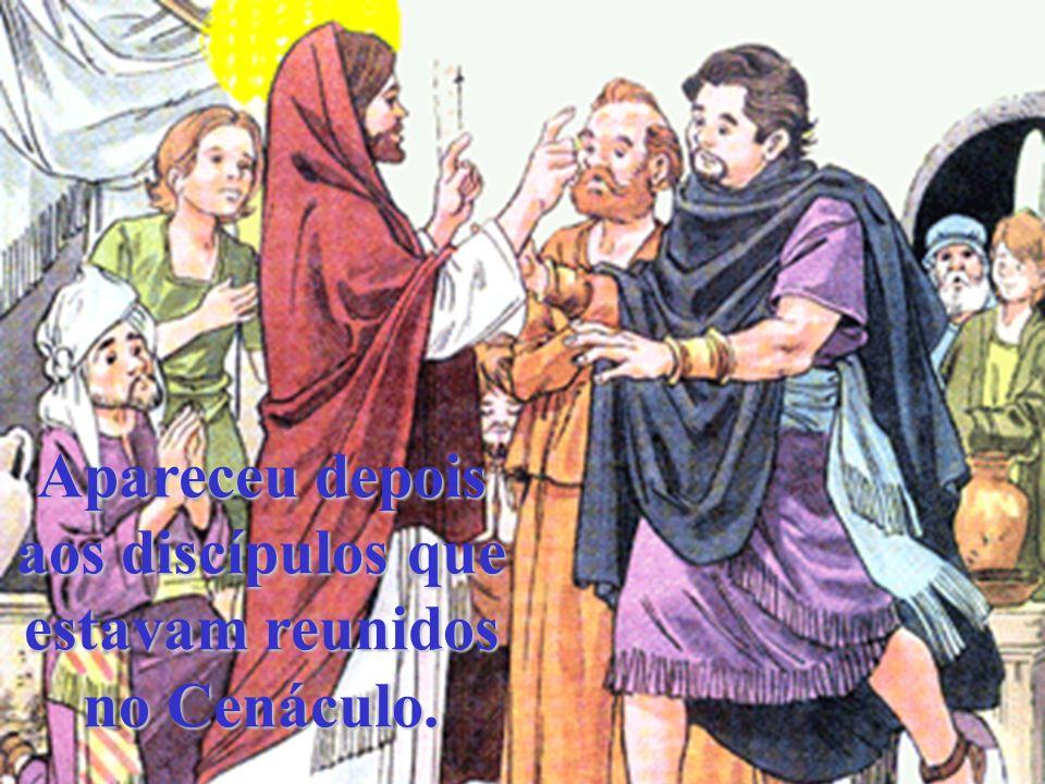 Maria Madalena chorava, porque não encontrava o corpo de Jesus, e o Mestre apareceu-lhe.