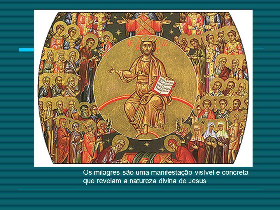 Os milagres são uma manifestação visível e concreta que revelam a natureza divina de Jesus